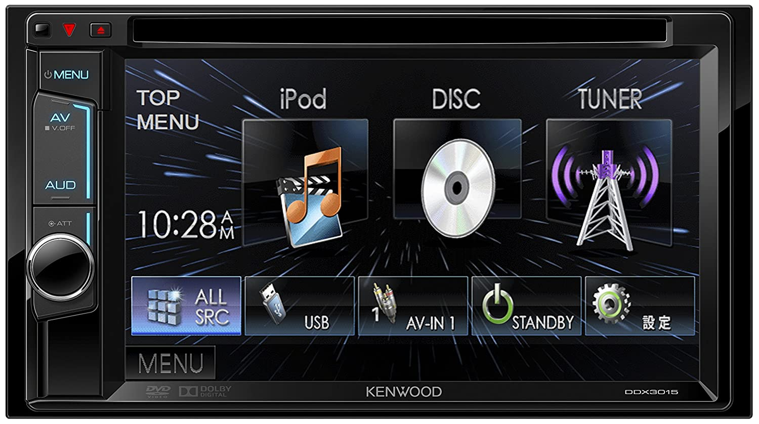 KENWOOD MP3/WMA/AAC/WAV対応DVD/CD/USBレシーバー DDX3015 B00P0ERUUY