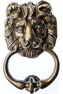 Historischer Türklopfer xxl 40cm 5kg Eisen Löwe antik Stil Türbeschlag Tür