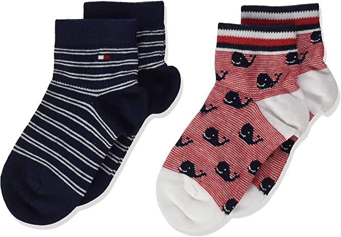 Tommy Hilfiger Th Baby Sock 2p Whale Calcetines, Multicolor (Tommy Original 085), 19-22 (Pack de 2) para Bebés: Amazon.es: Ropa y accesorios