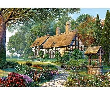 Englisches Cottage puzzle 1500 teile großes cottage landschaft romantisch