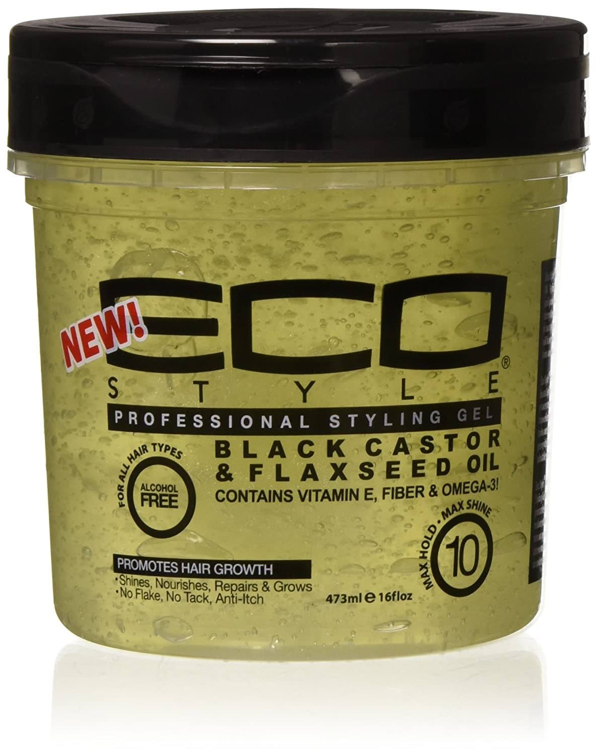 Eco Style Black Castor & Flaxseed Oil Gel, 16 Ounce Atlas Ethnic ECO48