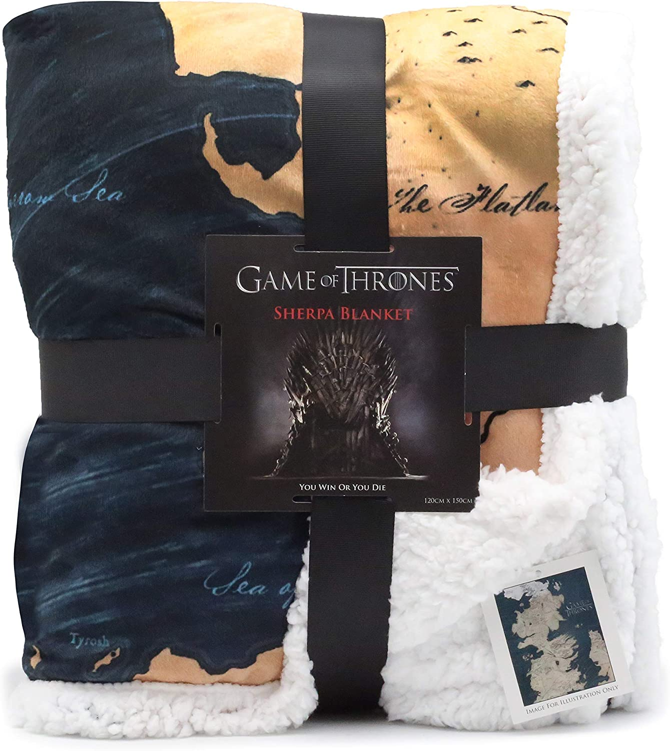 Game Of Thrones Gifts Map Of Westeros Sherpa Blanket Got