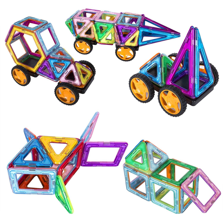 133 Pieces Magnetic Blocks Magnetic Building Blocks Toys Set Kuloe