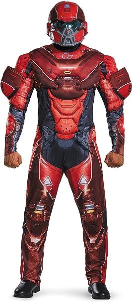 Amazon.com: Disfraz para hombre Halo Rojo Spartan muscular ...