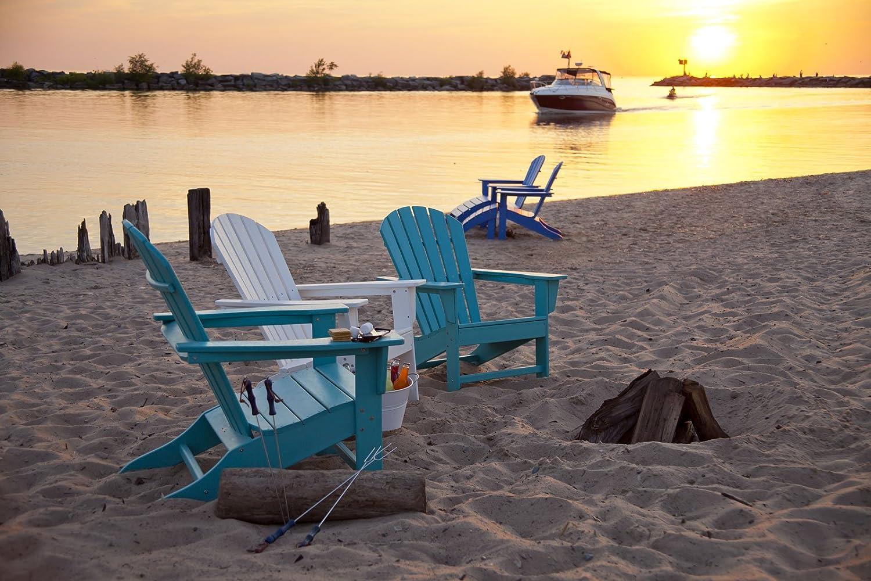 amazoncom polywood sba15ar south beach adirondack aruba adirondack chairs patio lawn u0026 garden - Polywood Adirondack Chairs