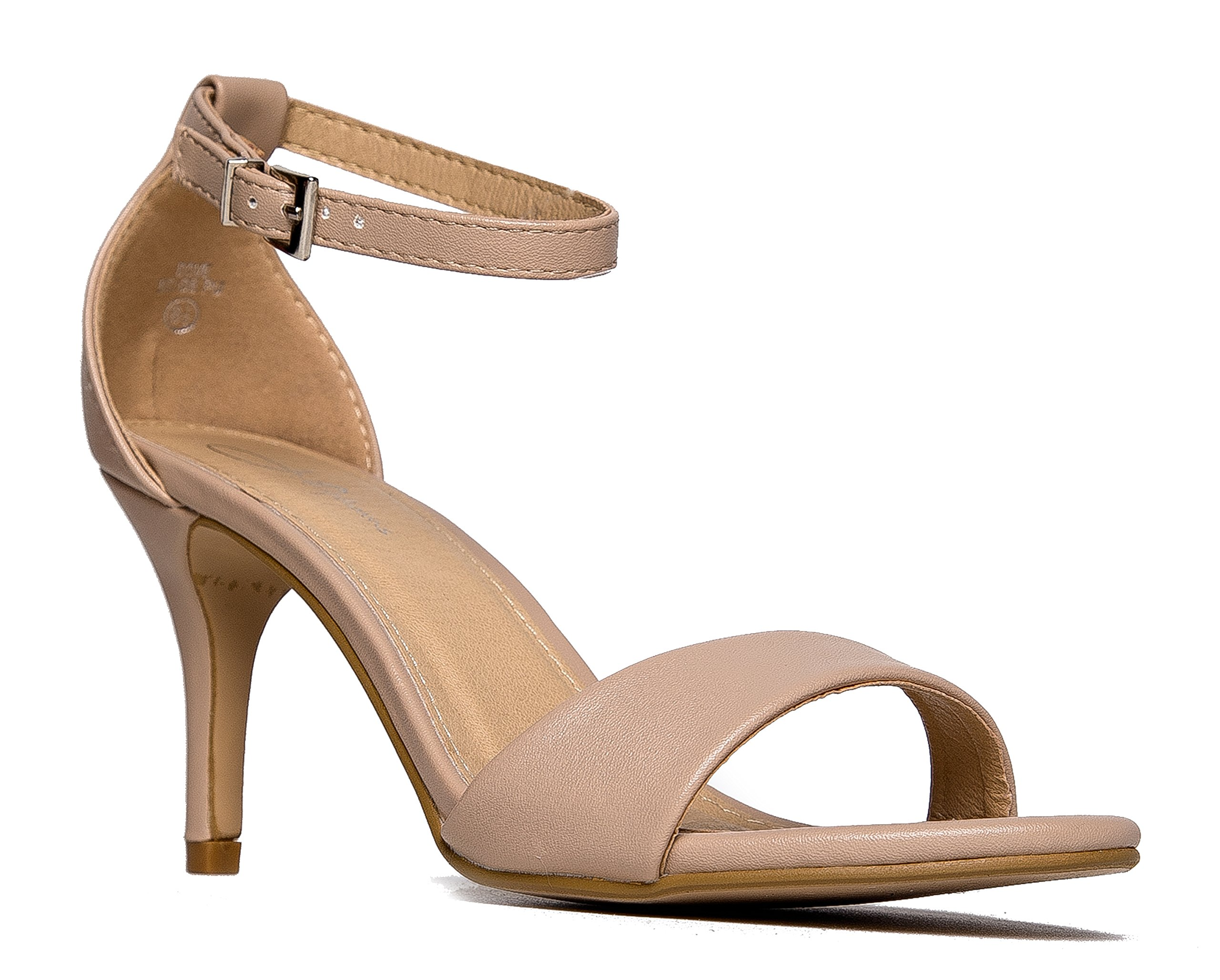 Amazon.com | J. Adams Ankle Strap Kitten Heel - Strappy