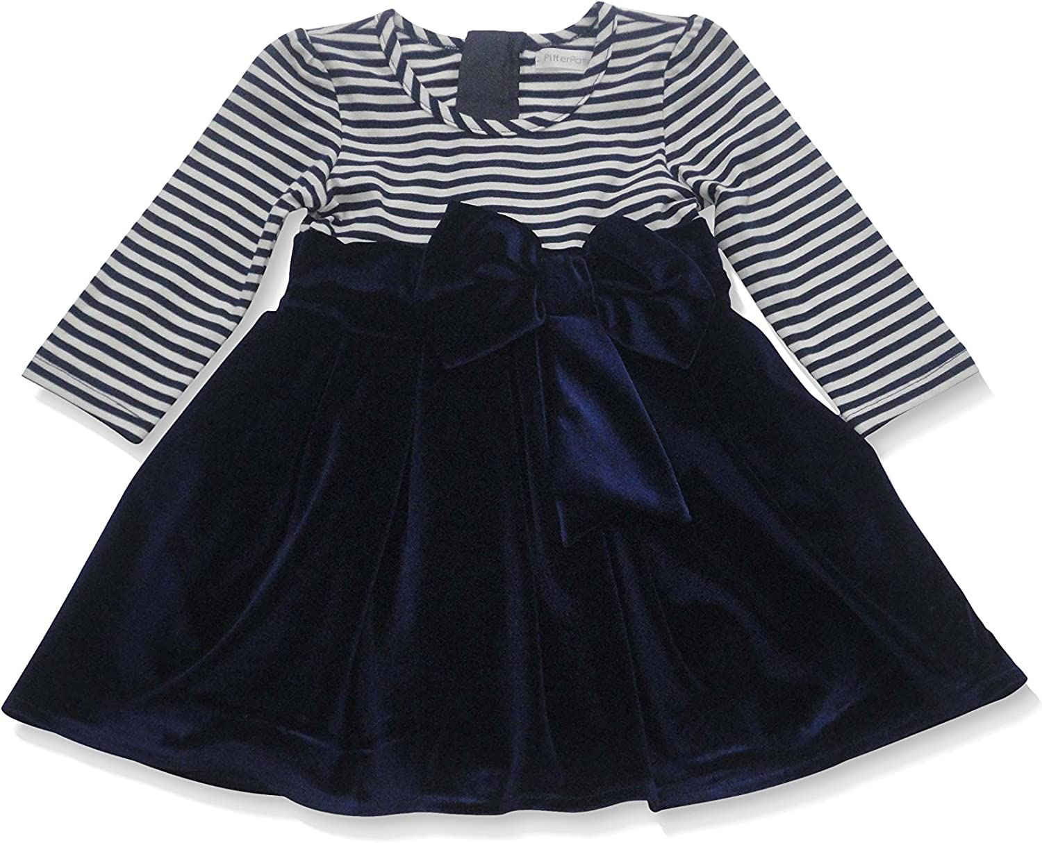 Lucie et Coco Striped Dress with Bow 36112
