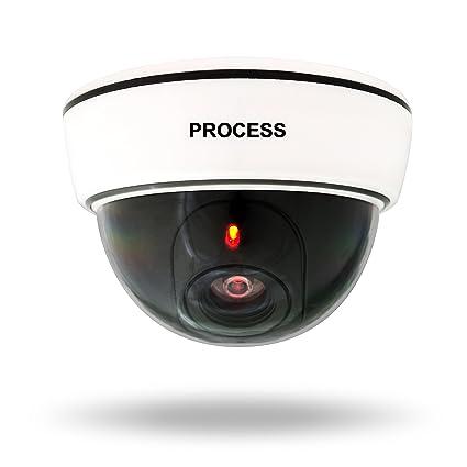 Cámara de vigilancia simuladas - blanco de 13 x 13 x 9 cm - LED cámara