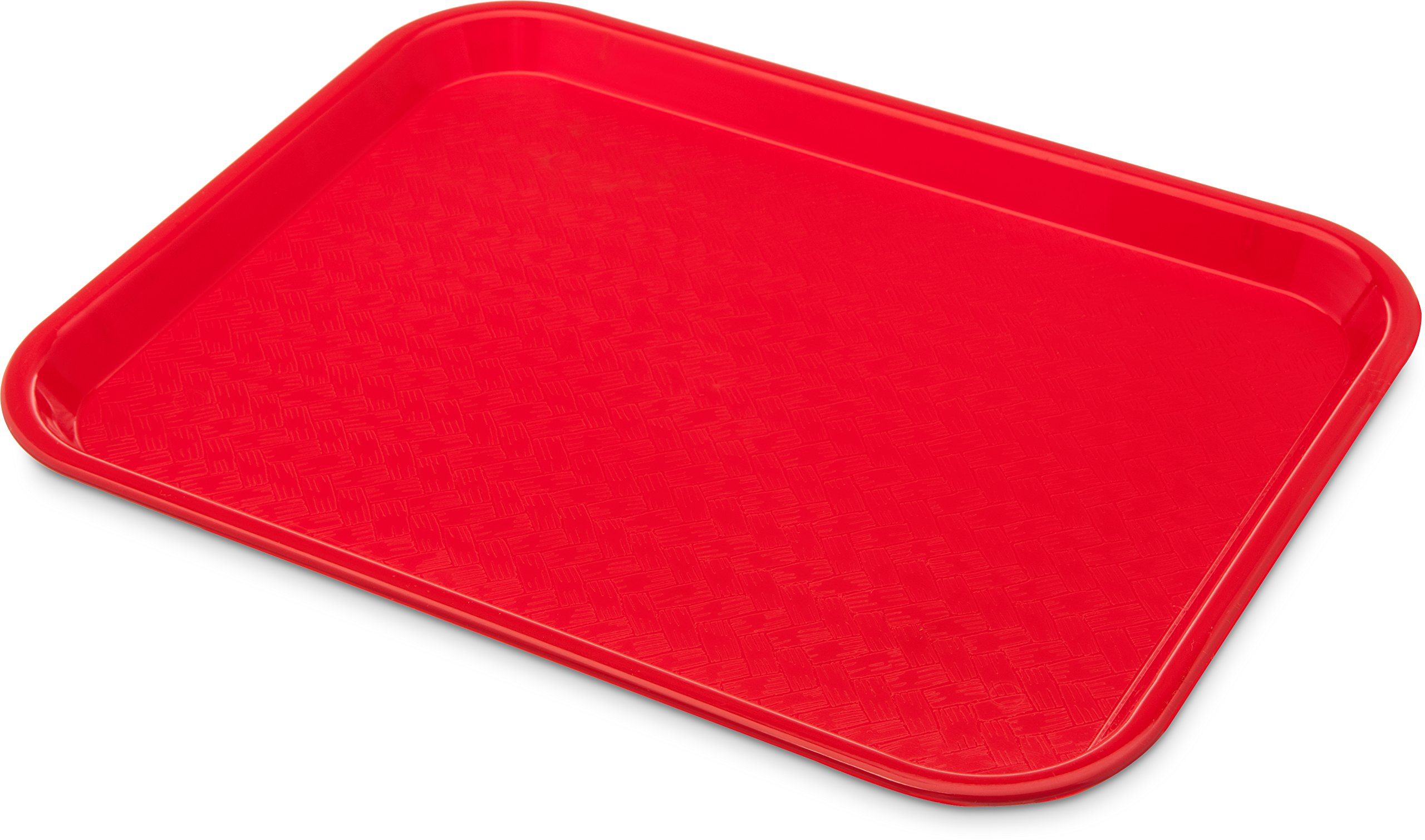 Carlisle CT1014-8105 Café Standard Cafeteria / Fast Food Tray, 10'' x 14'', Red (Pack of 6)