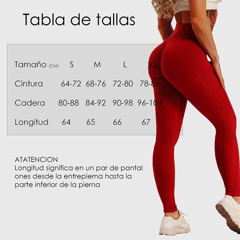 FITTOO Mallas Pantalones Deportivos Leggings Mujer Yoga de Alta Cintura El/ásticos y Transpirables para Yoga Running Fitness con Gran El/ásticos