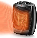 TRUSTECH Space Heater, 1500W Portable Heater, Up to 200sq, 3 Modes Adjustable, Tip-Over and Overheat Protection…