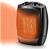 Space Heater, 1500W Portable Heater, Up to 200sq, 3 Modes Adjustable, Tip-Over and Overheat Protection, Adjustable Thermostat