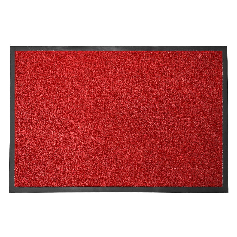 Casa pura® Premium Fußmatte in attraktiver Optik   Schmutzfangmatte in 5 Größen   rot   120x180cm