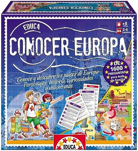 Educa Borrás-Conocer Europa Juego de Mesa, 33.3 x 22.9 x 4.6 14669: Amazon.es: Juguetes y juegos