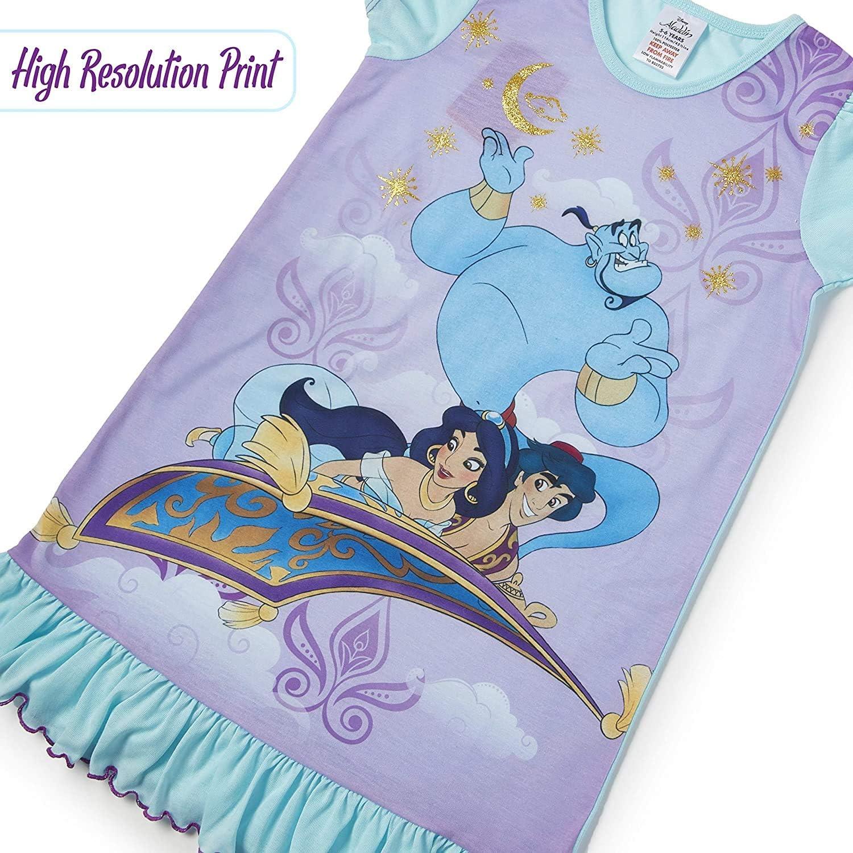 Aladdin Cinderella Nightwear Disney Princess Girls Nighties with Lion King Little Mermaid Clothing Paw Patrol Official Product Kids Princesses Nightdress