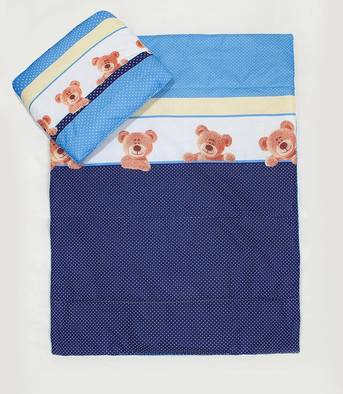 2 Pcs Crib/Cradle/Pram Bedding Set - 70x80cm Duvet Cover & Pillowcase - Pattern 9 Baby Comfort