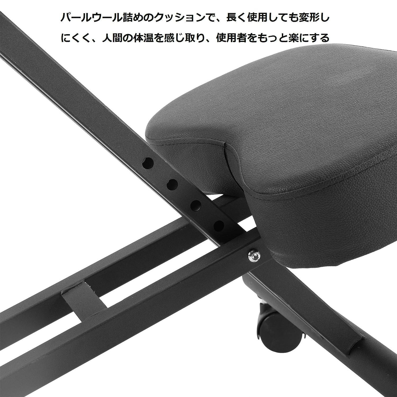 CO-Z バランスチェア 人間工学 ニーリングチェア パールウールクッション オフィスチェア 折り畳み プロポーション 姿勢 バックボーン矯正 スタイル 腰痛改善 長時間疲れない キッズ学習椅子 キャスター付き 高さ調節可 ガス圧昇降 負荷120KG
