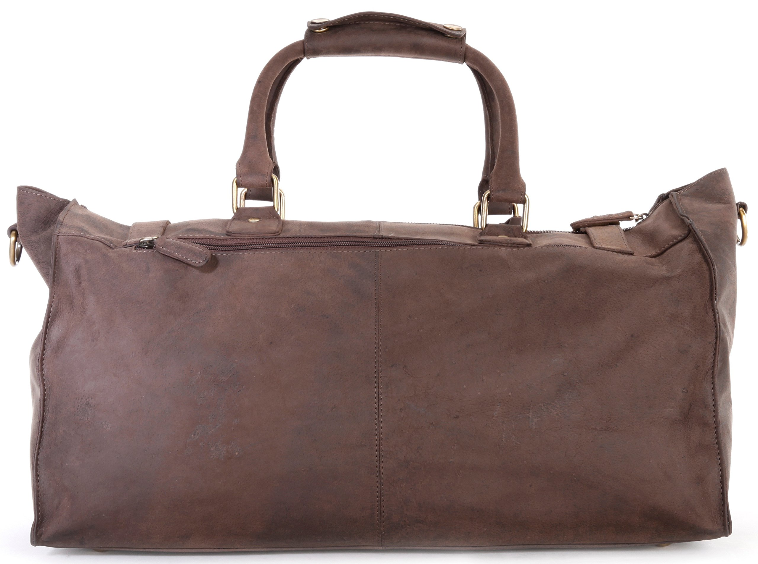 LEABAGS Durham genuine buffalo leather duffle bag in vintage style - Nutmeg by LEABAGS (Image #3)