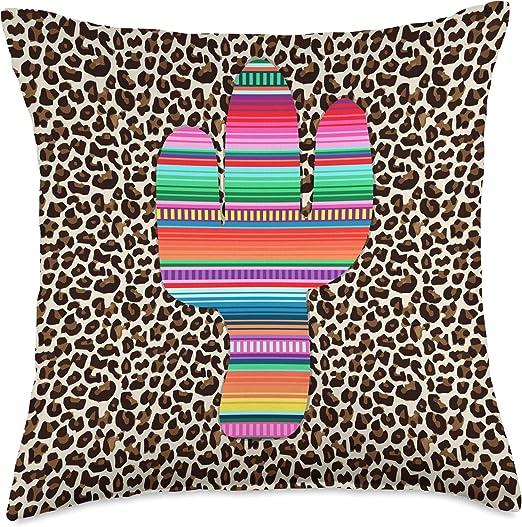 Fiesta Cactus Sarape Pillow Home Decor 1 Piece
