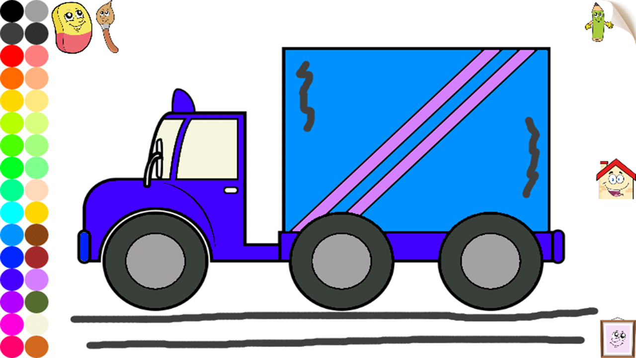 Vehículos y coches para colorear para niños y pequeños : camiones ...