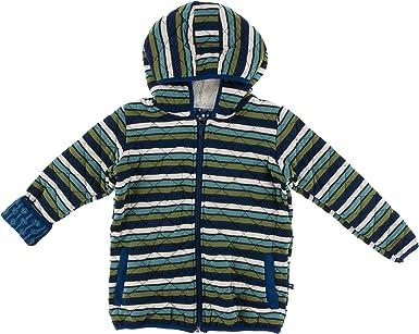 Kickee Pants Long Sleeve Hoodie Tee Meteorology Stripe XS 5//6 Years