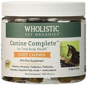Wholistic Pet Organics Canine Complete Soft Chews Supplement