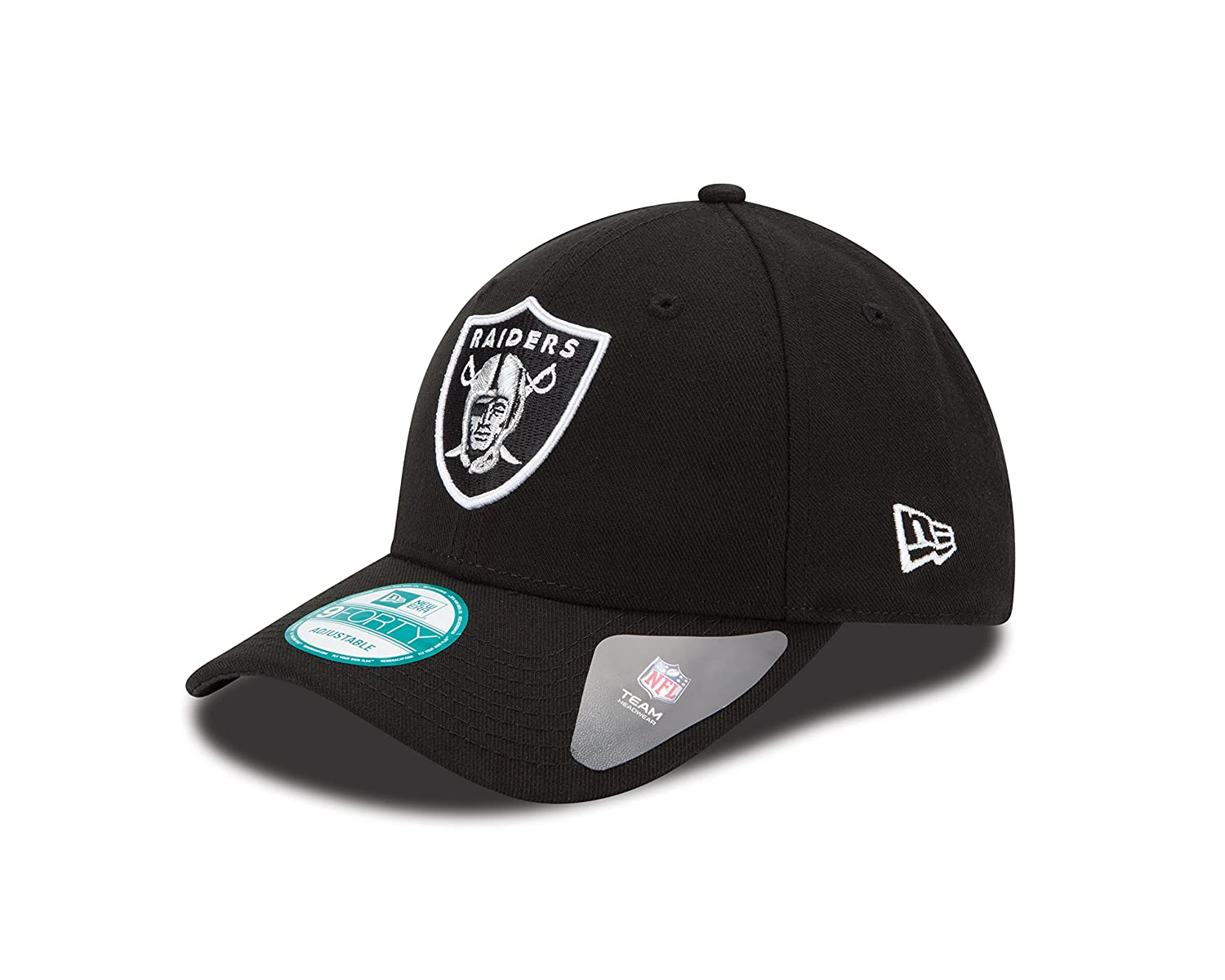 New Era Men's The League 9Forty Oakland Raiders Official Team Colour Baseball Cap Black One Size 10517873