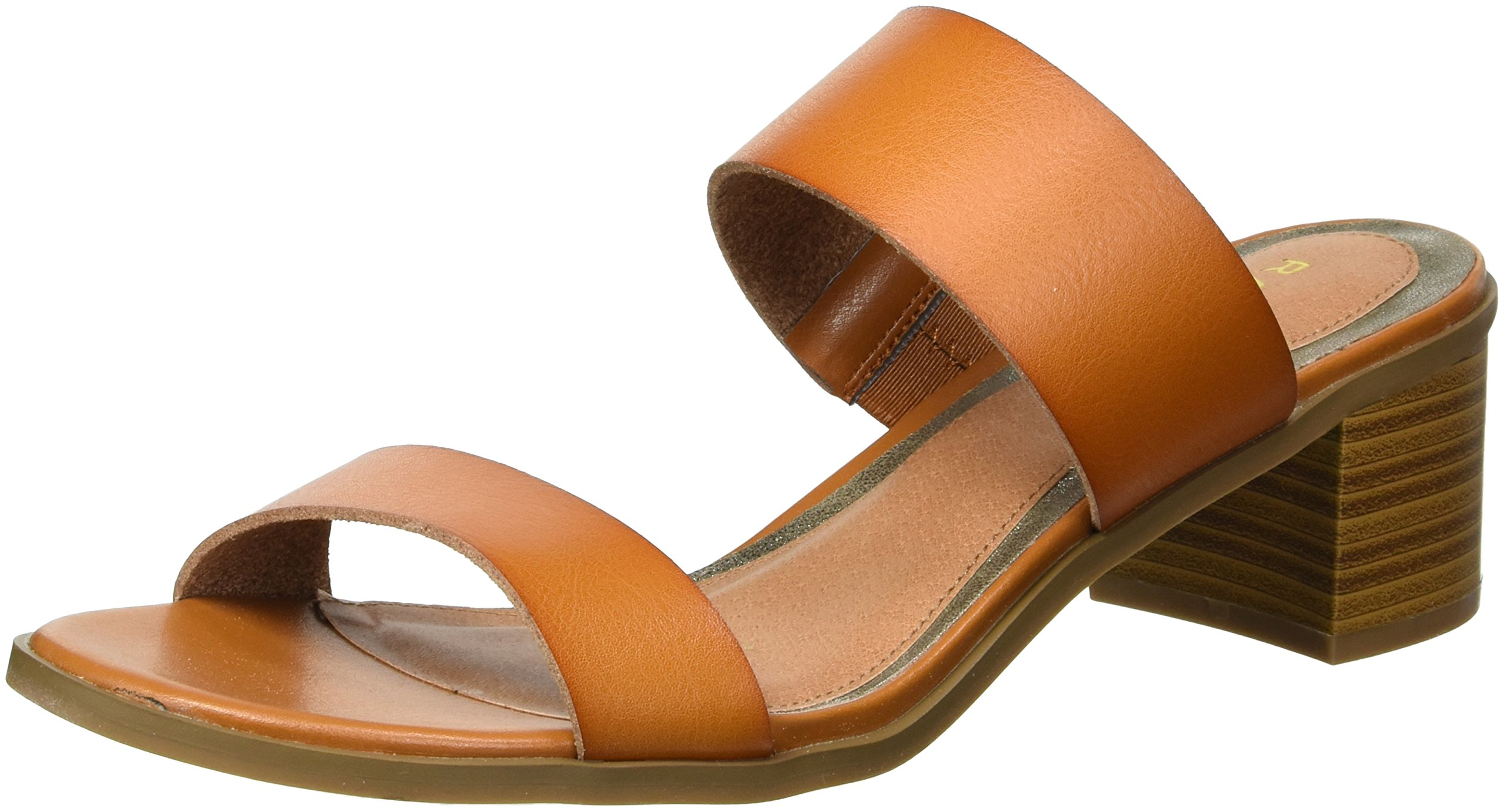 Rampage Women's Ram-Hatty Heeled Sandal, Cognac Burnish, 10 M US