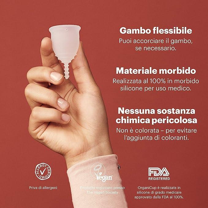 OrganiCup Mini taza menstrual individual: Amazon.es: Salud y ...