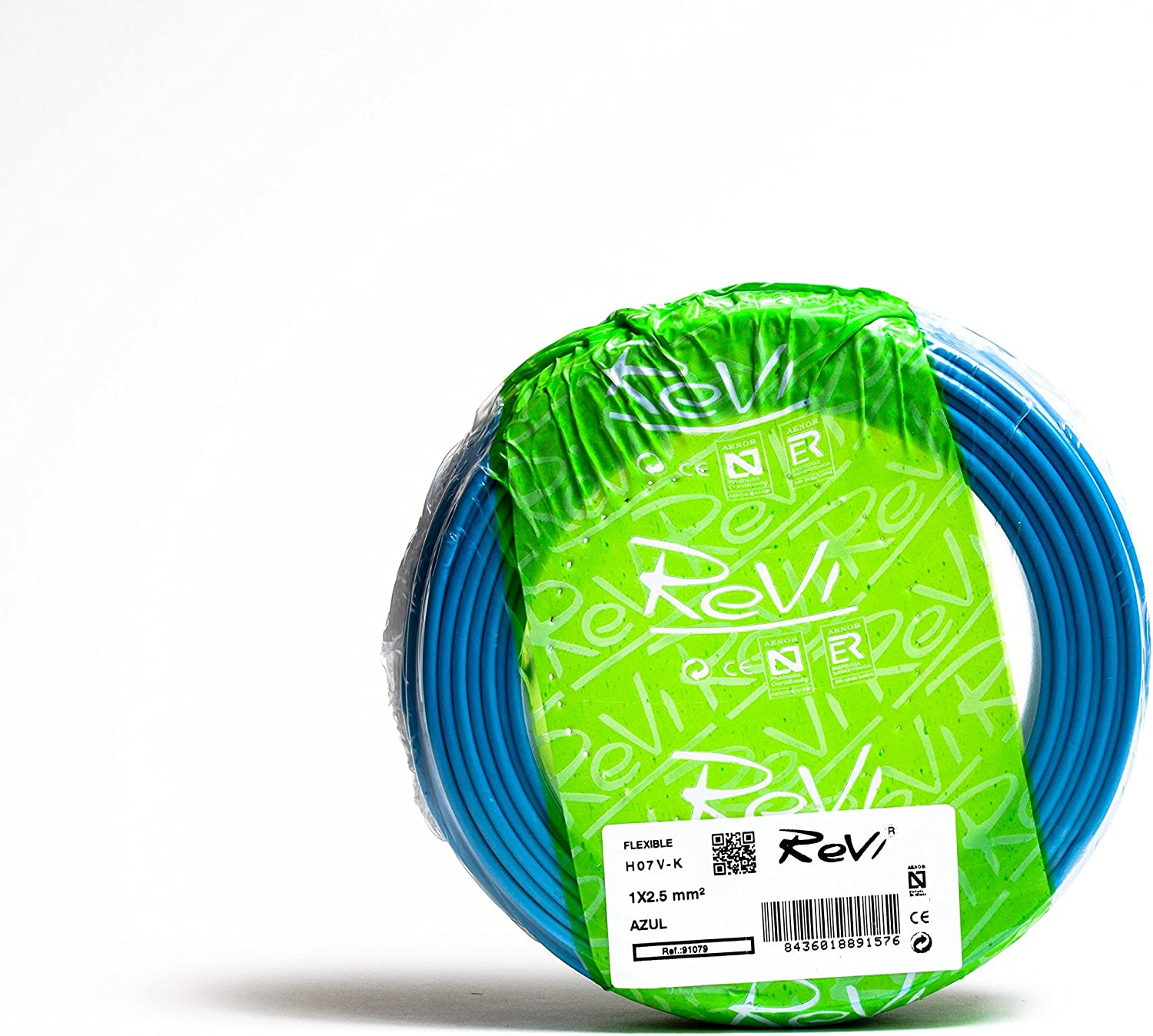 Cable FLEXIBLE H07V-K 1 x 2,5 mm² 50 m (Azul)
