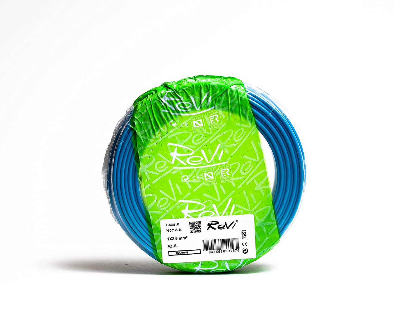 Cable FLEXIBLE H07V-K 1 x 2,5 mm/² 50 m Bicolor Amarillo // Verde