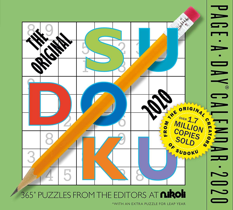 "The Original Sudoku Color Page-A-Day Calendar 2020 [6"" x 6"" Inches]"
