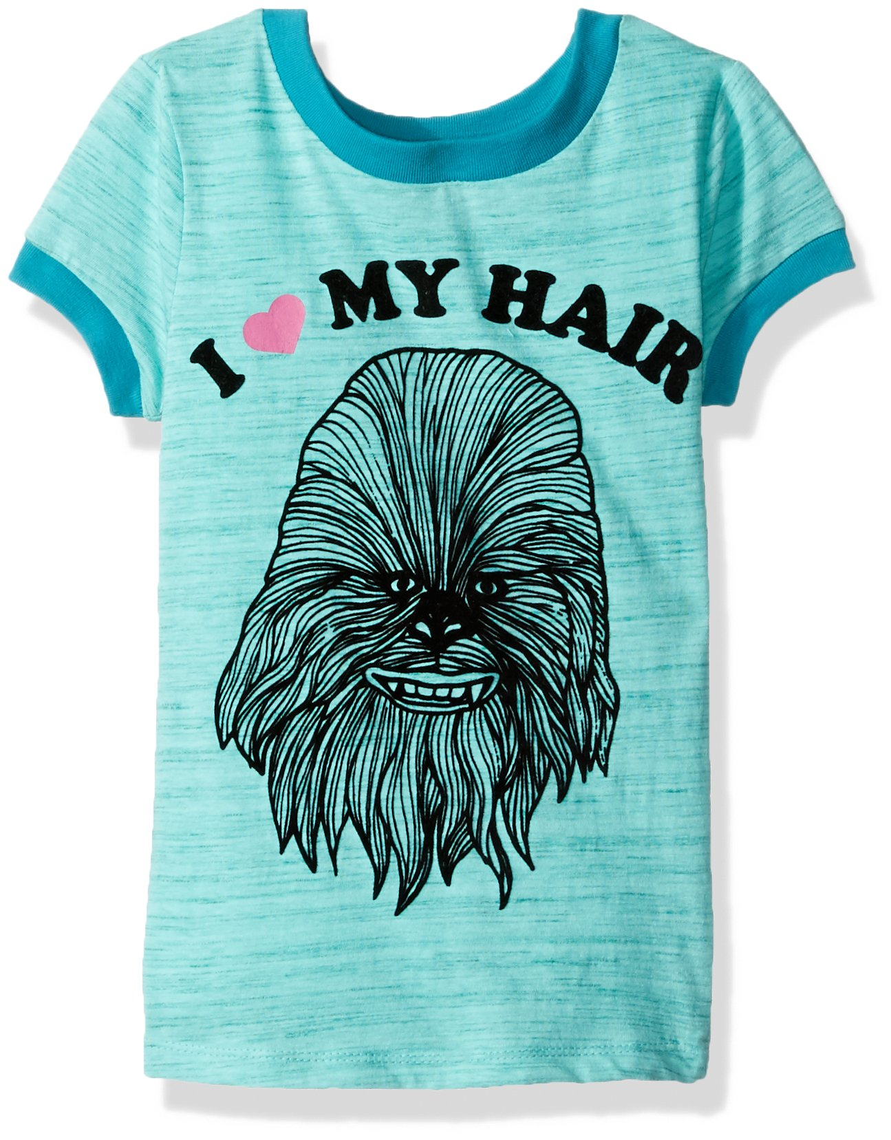 Star Wars Girls' Chewbacca I Love My Hair T-Shirt, Jade, L 10/12