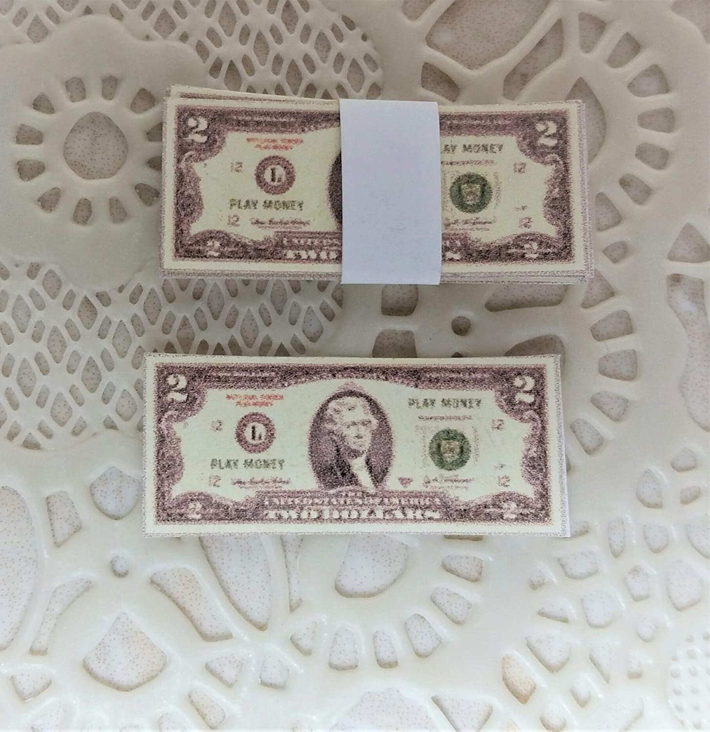 1//12 Scale Dollhouse Money Banknotes US Currency Decor for BJD Accessories C