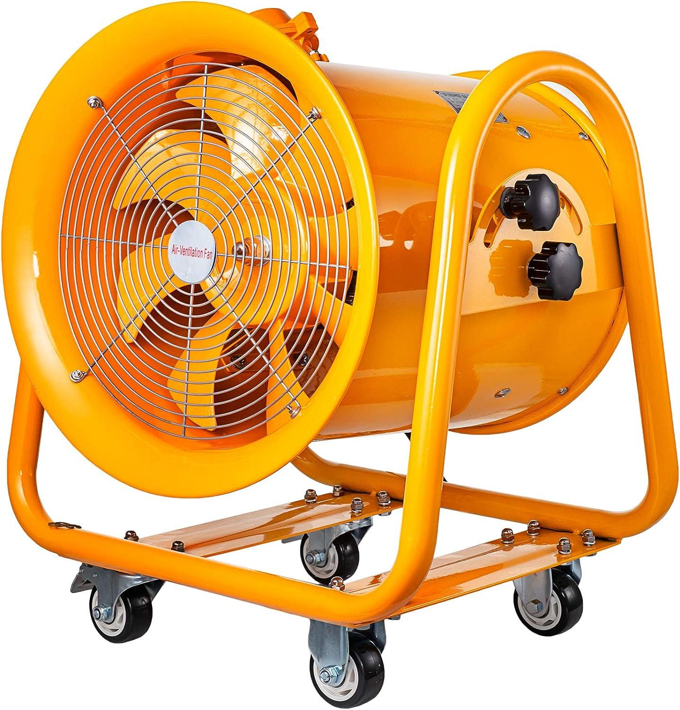 Mophorn Ventilador Industrial Extractor de Grado ATEX de 16 Pulgadas 1100W Ventilador a Prueba de Explosión Ampliamente Utilizado para Ventilación