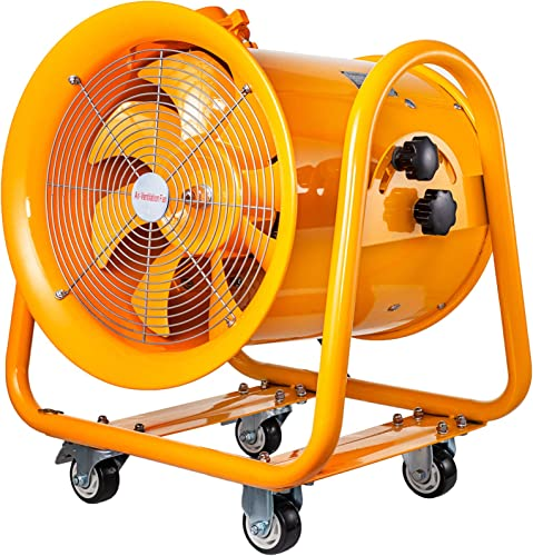 Mophorn Explosion Proof Fan 16inch Utility Blower Fan 1.1KW 110V Portable Ventilator Explosion Proof Fan 60Hz 3450rpm Ventilation Fan for Extraction Ventilation in Potentially Explosive Environments