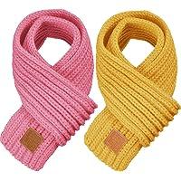 2 Piezas de Bufandas de Punto Cálidas de Invierno para Niños Bufanda Cálida Calentador de Cuello para Niños Pequeños…