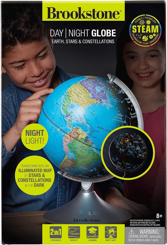 Brookstone Educational Globe for Kids Interactive Light Up World Globe, Constellation Globe, & Night Light STEAM Toy