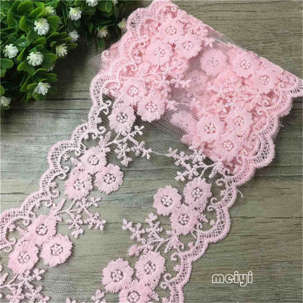 Retro Style Cotton Fabric Ribbon Trim Floral Lace Pattern