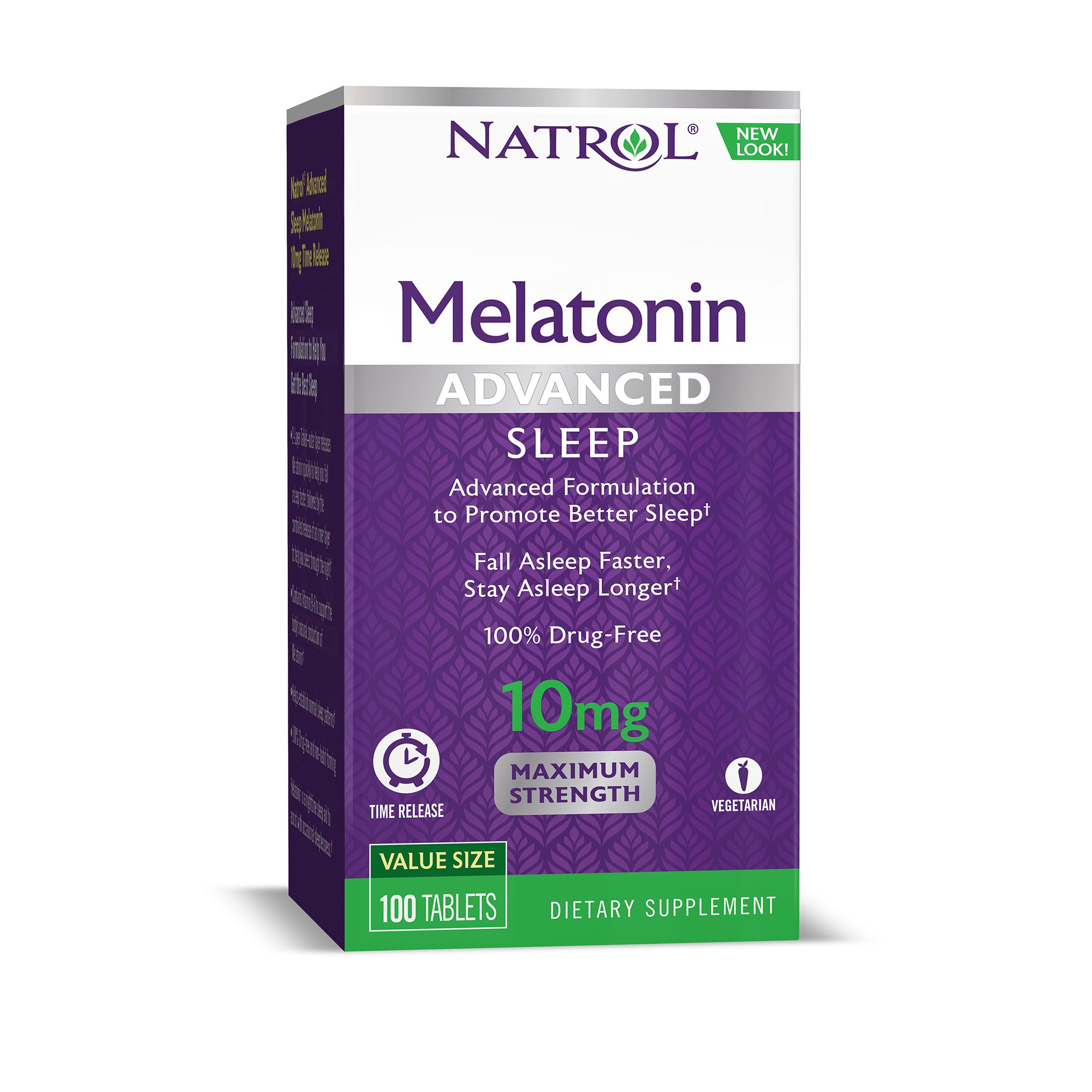 Natrol Advanced Sleep Melatonin 10mg Time Released, 100 Count