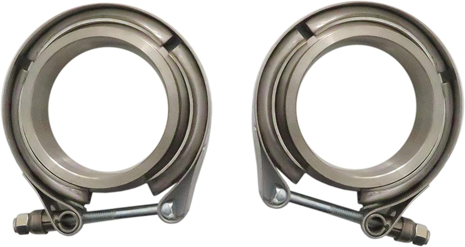 3 Inch New Stainless Steel Exhaust V Band Clamp Quick Release Mild Steel Male Female Flange