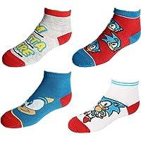 BioWorld Boy's Sega Sonic the Hedgehog Socks (4 Pair Pack), Blue