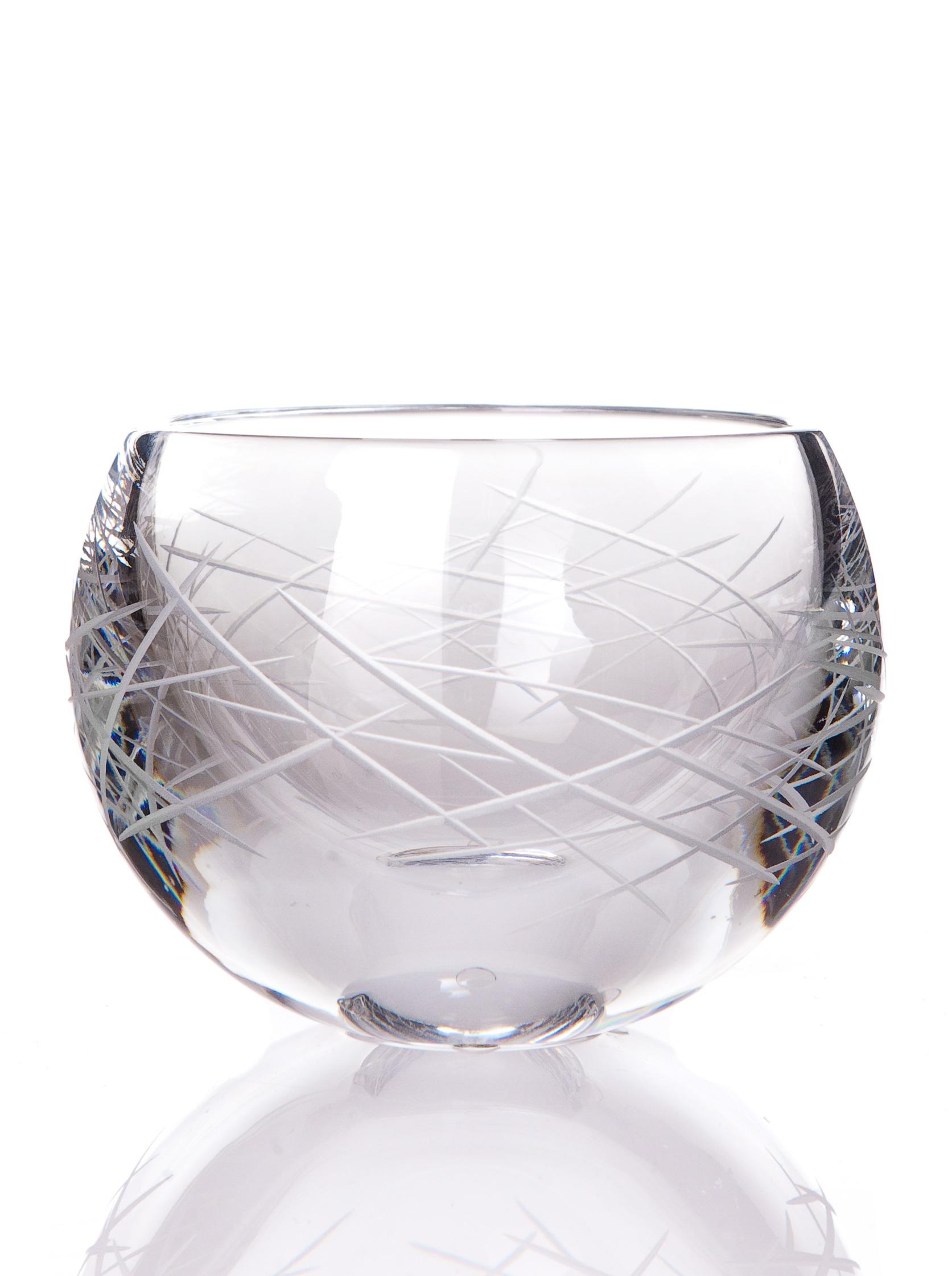 Candle Glass of Sevres Feu Elements