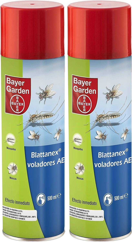 PROTECT HOME® - Insecticida Mata Mosquitos Moscas y Otros Insectos voladores con acción Choque y Efecto prolongado – Spray 500Ml – Pack de 2 Unidades.