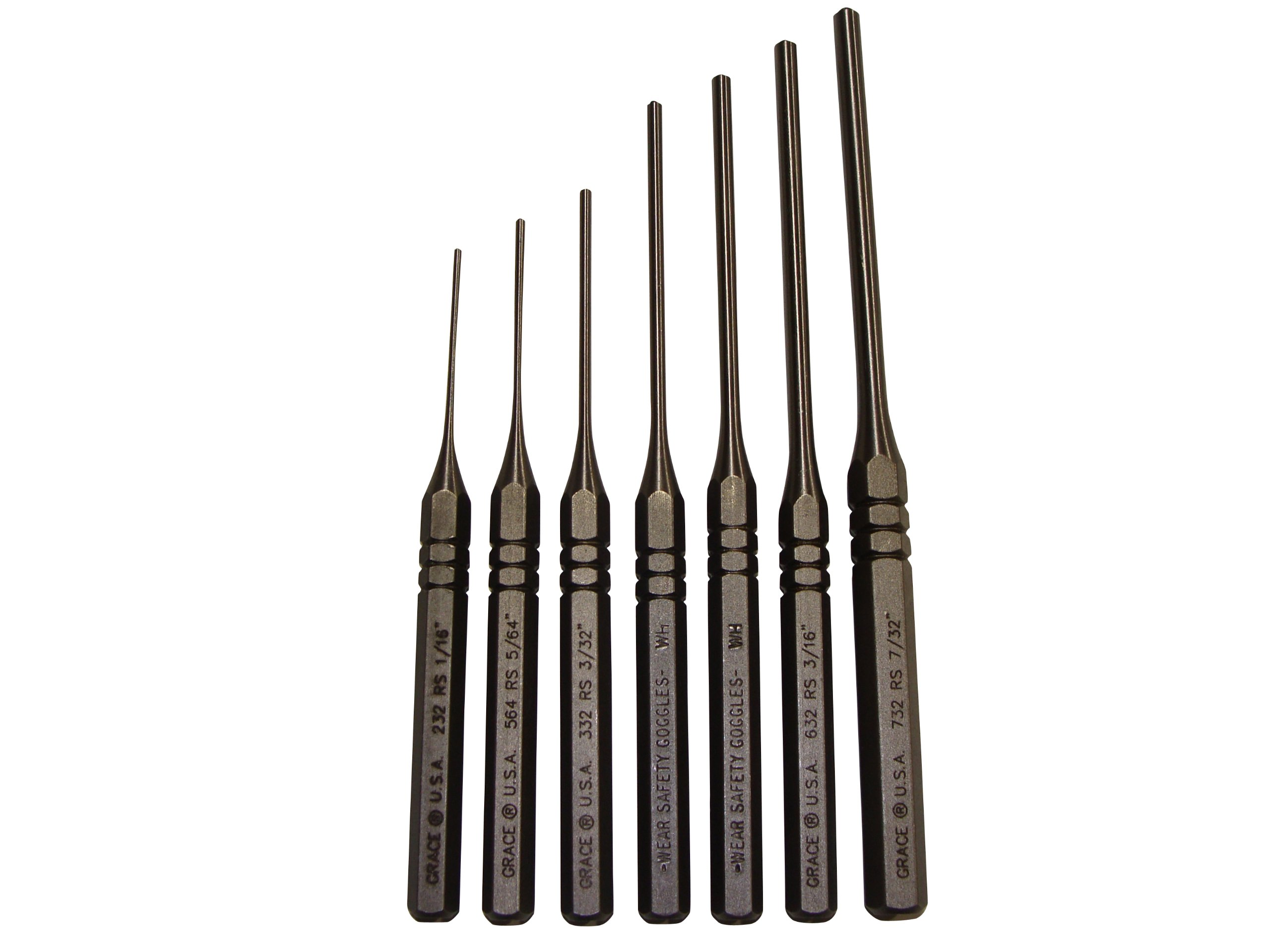Grace USA - Steel Roll Spring Punch Set - RS7 - Gunsmithing - Steel Punches - 7 piece - Gunsmith Tools & Accessories by Grace USA