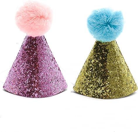 Amazon.com: Huele 2 piezas perro sombrero de cumpleaños para ...