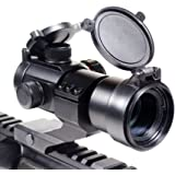 Ozark Armament Rhino Tactical Green & Red Dot Sight for Rifles & Shotguns by Includes Picatinny Cantilever Mount Co-Witness with Iron Sights - Coated Optic