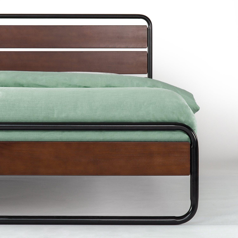 Zinus Horizon Metal /& Wood Platform Bed with Wood Slat Support Full