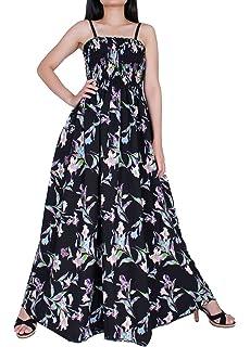615e9e73aab Women Floral Plus Size Maxi Dress Casual Long Sexy Summer Hawaiian White  Peacock Sleeveless Sundress