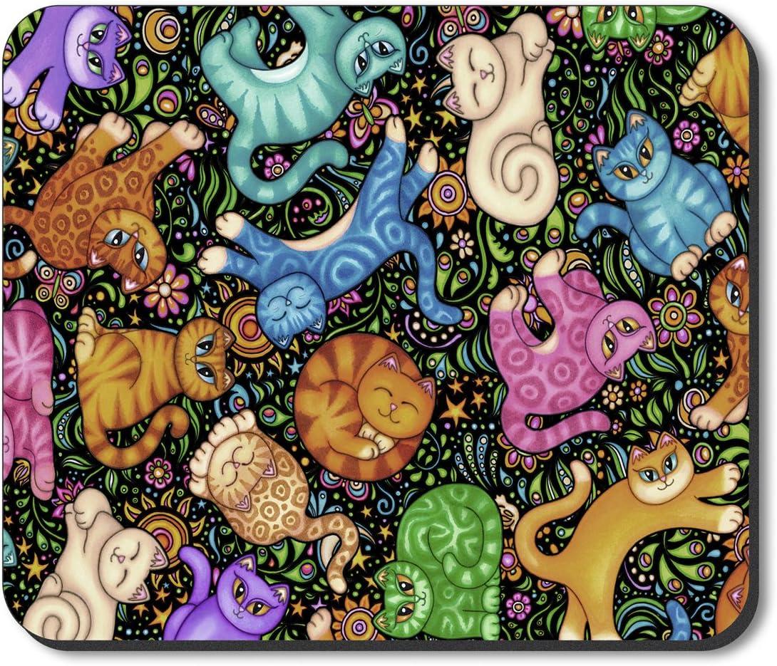Image by Dan Morris Cat Toss Art Plates Brand Mouse Pad